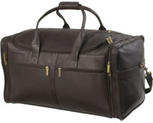 Edmond Leather Deluxe Cabin Bag (Chocolate)