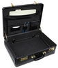 Edmond Leather Large Business Attache Case (Open)