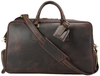 Pratt Leather Duffle Bag With Shoe Compartment (Luggage Tag)