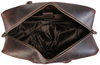 Pratt Leather Duffle Bag With Shoe Compartment (Open)