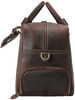 Pratt Leather Duffle Bag With Shoe Compartment (Profile)