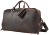 Pratt Leather Duffle Bag With Shoe Compartment (Angle)