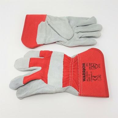 Chrome Leather Red Rigger Gloves