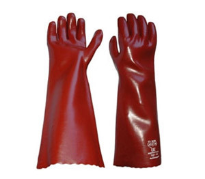 "One Pair PVC Gauntlets 18""."
