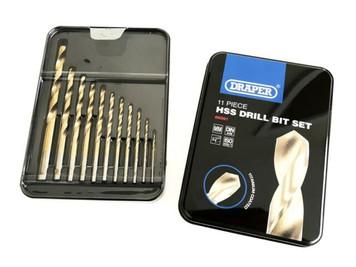 11 Piece HSS Drill Bit Set