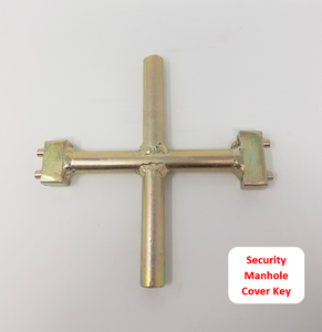 Bi-Peg Security Manhole Key