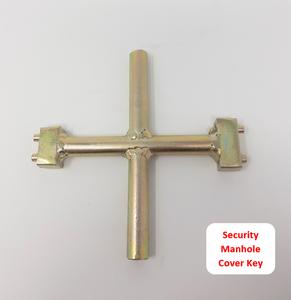 Bi-Peg Security Manhole Key