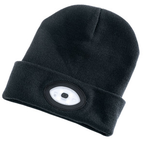 Beanie Hat with Rechargeable LED Headtorch