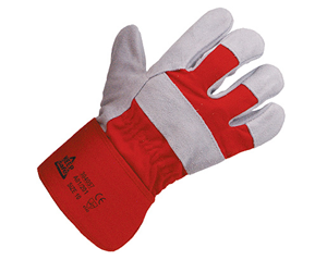 Chrome Leather Red Rigger Gloves (pair)