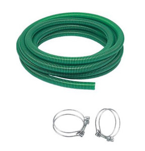 50mm PVC Suction Hose x 10m C/W 2 clips