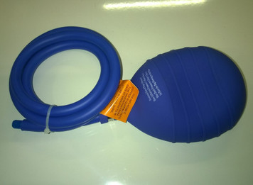"""4"""" (100mm) with 5' (1.5m) inflation tube and Schrader valve connector"""