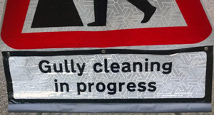 'Gully Cleaning In Progress' Supplementary Plate