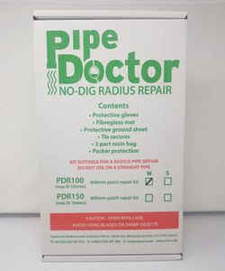 "Pipe Doctor Radius Kit 70-103mm (4"") dia x 550mm - PDR100W"