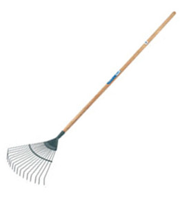 Carbon Steel Spring Back Lawn Rake