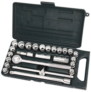 "25 Piece ½"" Drive Socket Set mm/AF Combined"