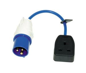 230V Fly Lead SKT Converter 16amp Plug - 13amp SKT