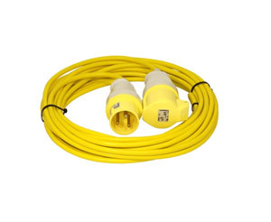 14m Extension Lead 16A 110V 2.5mm Cable