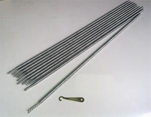 13mm Coiled Spring Steel Rod Set