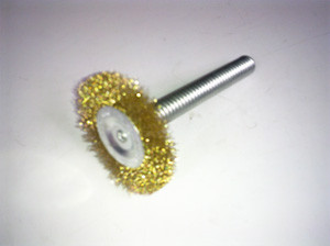 100mm Wire Ring Brush for 19mm Coiled Spring Steel Rods