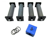 Quad (2.11 cfm) Air Stone Diffusers for Aeration Pumps USED