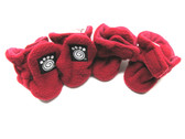 Petrageous Fleece Dog Boots X-Small Red