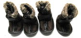 Petrageous Cheyenne Faux Suede Dog Boots Brown Large