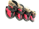 Petrageous Cheyenne Dog Boots Small Red