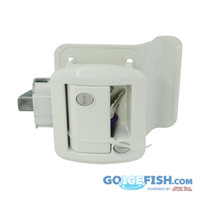 White RV Door Lock / Handle