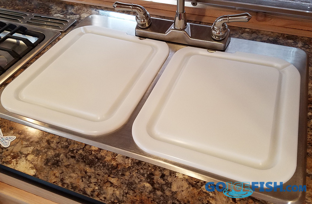 sink cover double s s 2 piece white goicefish