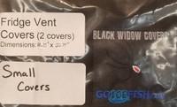 "Black Widow Small Fridge Vent 10.75"" x 22.75"" Cover"
