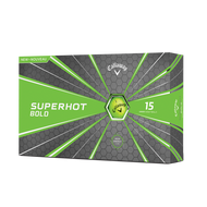 2019 Superhot Bold Matte Green 15-Pack Golf Balls