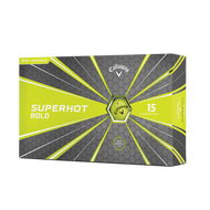 2019 Superhot Bold Matte Yellow 15-Pack Golf Balls