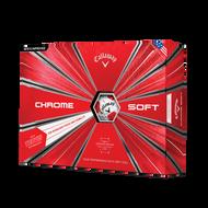 2019 Chrome Soft Truvis Red Golf Balls