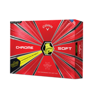 2019 Chrome Soft Truvis Yellow Golf Balls