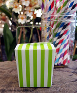 "2"" Mini Stripe Pet Take-out Gift Favor Boxes, Pack of 12 (Green)"