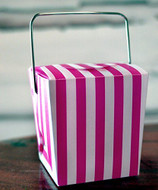 "2"" Mini Stripe Pet Take-out Gift Favor Boxes, Pack of 12 (Hot Pink)"