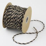 2.5mm x 50 Yards Decorative Two Tone Burlap Jute Rope Twine (Black)