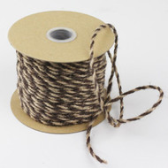 2.5mm x 50 Yards Decorative Two Tone Burlap Jute Rope Twine (Brown)