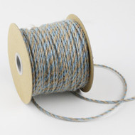 2.5mm x 50 Yards Decorative Two Tone Burlap Jute Rope Twine (Light Blue)