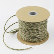 2.5mm x 50 Yards Decorative Two Tone Burlap Jute Rope Twine (Moss)