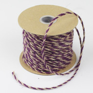 2.5mm x 50 Yards Decorative Two Tone Burlap Jute Rope Twine (Purple)