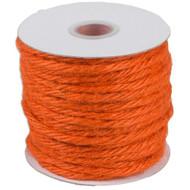 "3.5""mm X 25 Yards Burlap Jute Rope Twine - Choose From 8 Colors (Orange)"