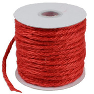 "3.5""mm X 25 Yards Burlap Jute Rope Twine - Choose From 8 Colors (Red)"