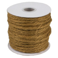 "3.5""mm X 25 Yards Burlap Jute Rope Twine - Choose From 8 Colors (Sable)"
