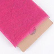 "54"" Inch X 10 Yards Premium Glitter Tulle Fabric Bolt (Fuchsia)"