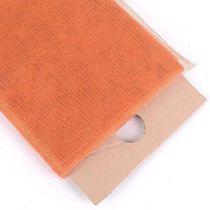 "54"" Inch X 10 Yards Premium Glitter Tulle Fabric Bolt (Orange)"
