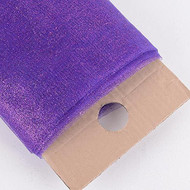 "54"" Inch X 10 Yards Premium Glitter Tulle Fabric Bolt (Purple)"