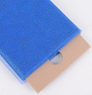 "54"" Inch X 10 Yards Premium Glitter Tulle Fabric Bolt (Royal Blue)"