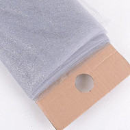 "54"" Inch X 10 Yards Premium Glitter Tulle Fabric Bolt (Silver)"