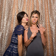 5ft x 6ft BLUSH Sequin Taffeta Fabric Photography Backdrop, Sequin Photo Booth Backdrop - MADE IN USA.